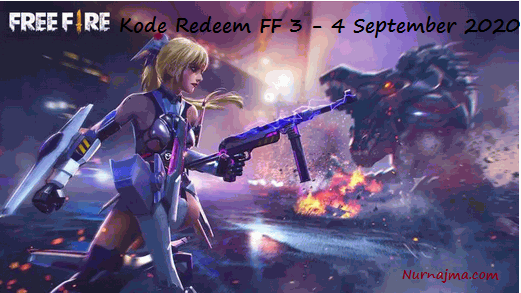 Kode Redeem FF 3 - 4 September 2020
