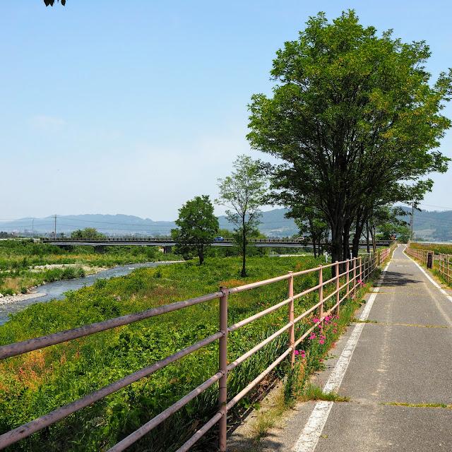 あづみ野やまびこ自転車道 拾ヶ堰 烏川