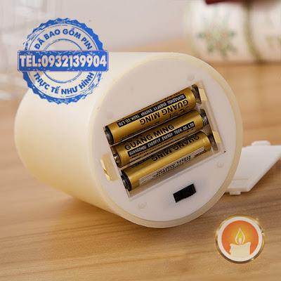 Đèn cầy sử dụng pin tim đèn lắc
