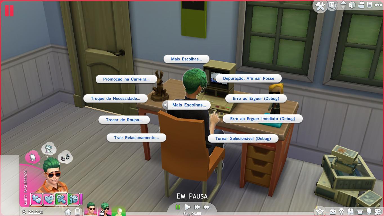 script mod como ativar op es avan adas no the sims 4 sou mais the sims. Black Bedroom Furniture Sets. Home Design Ideas