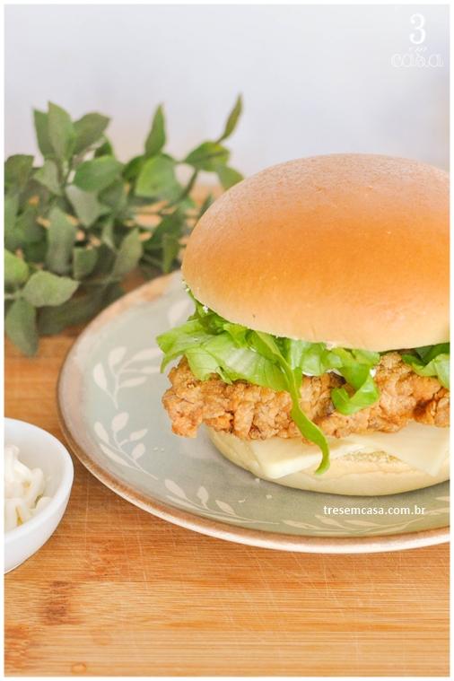 sanduíche de frango crocante receita