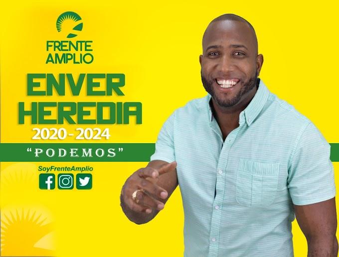 Publicidad de Enver Heredia no especifica cargo