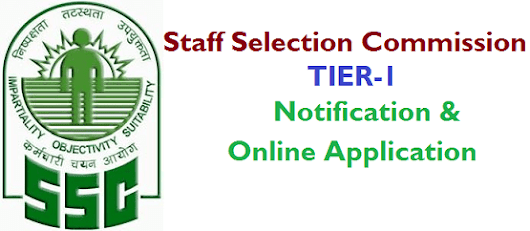 SSC Tier-1 Notification 2016 Online Application | Manabadi News and Results