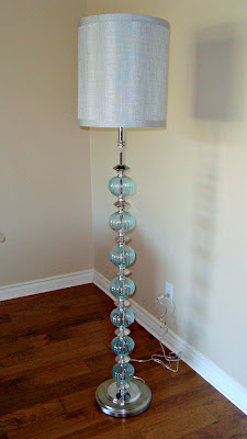 christine s favorite things aqua glass floor lamp 87868