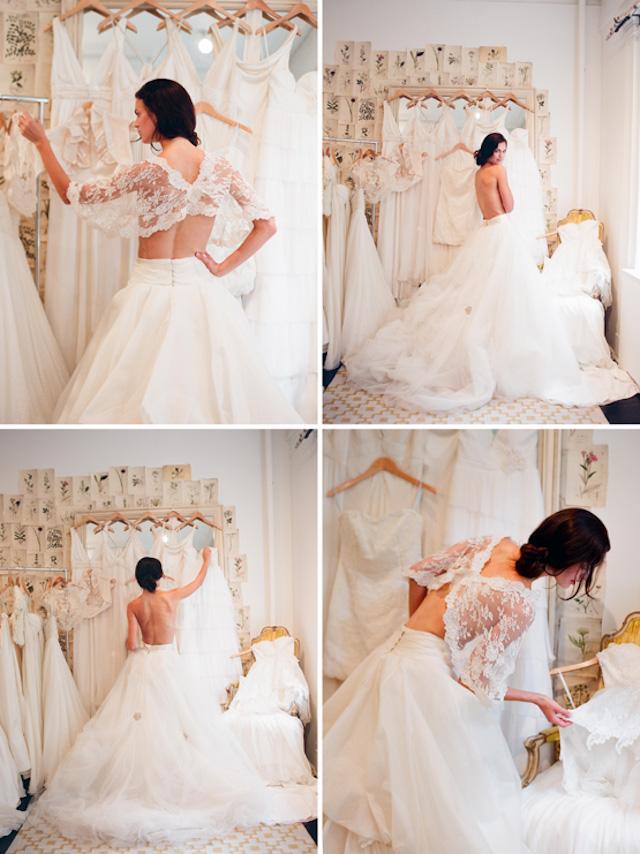 sesión de fotos en la prueba del vestido | a todo confetti - blog de