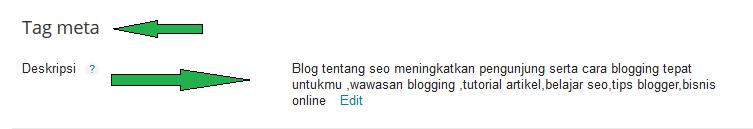 Lalu Dimana Menempatkan Kalimat Sebagai Deskripsi Artikel Blog ???