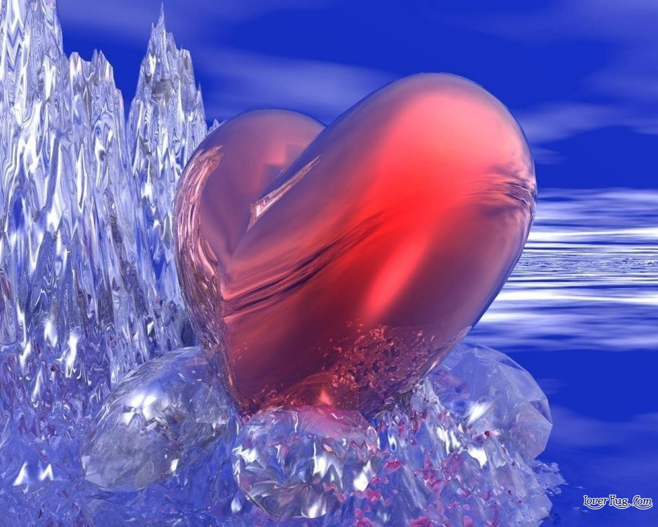 fire and ice heart - photo #25