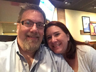 A photo of David Brodosi and his wife on date night