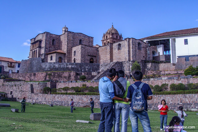 Qorikancha, o Templo do Sol de Cusco, Peru