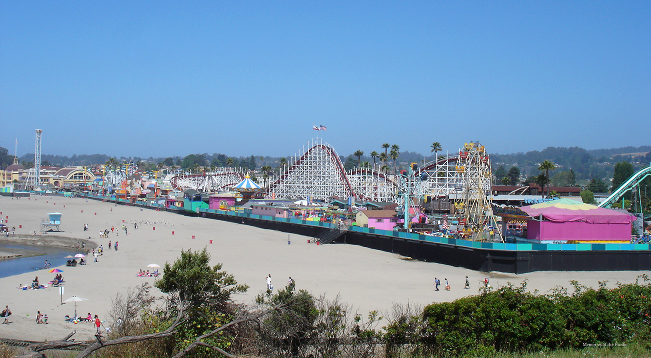 Santa Cruz Beach Boardwalk california one highway