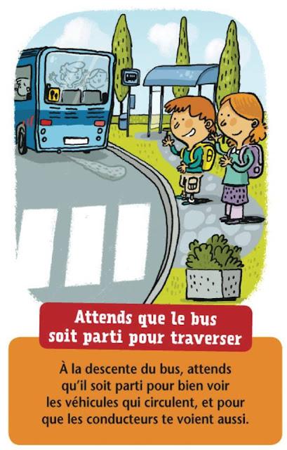كيفية تصرف الاطفال مع اشارات المرور بالفرنسية