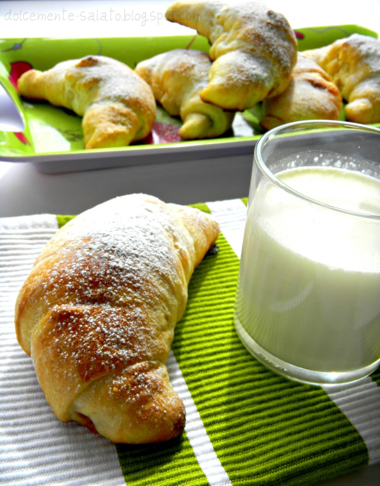 Dolcemente Salato Cornetti Di Pan Brioche Che Restano Morbidi A Lungo
