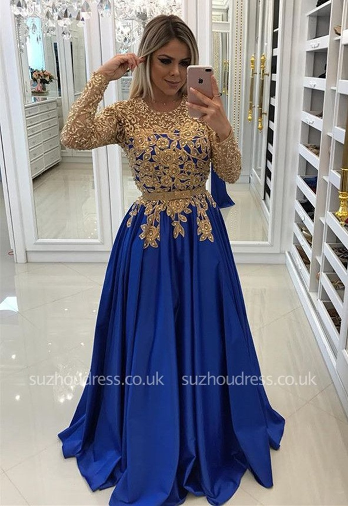https://www.suzhoudress.co.uk/modern-royal-blue-gold-lace-evening-dress-long-sleeve-party-gown-g25267?cate_2=42