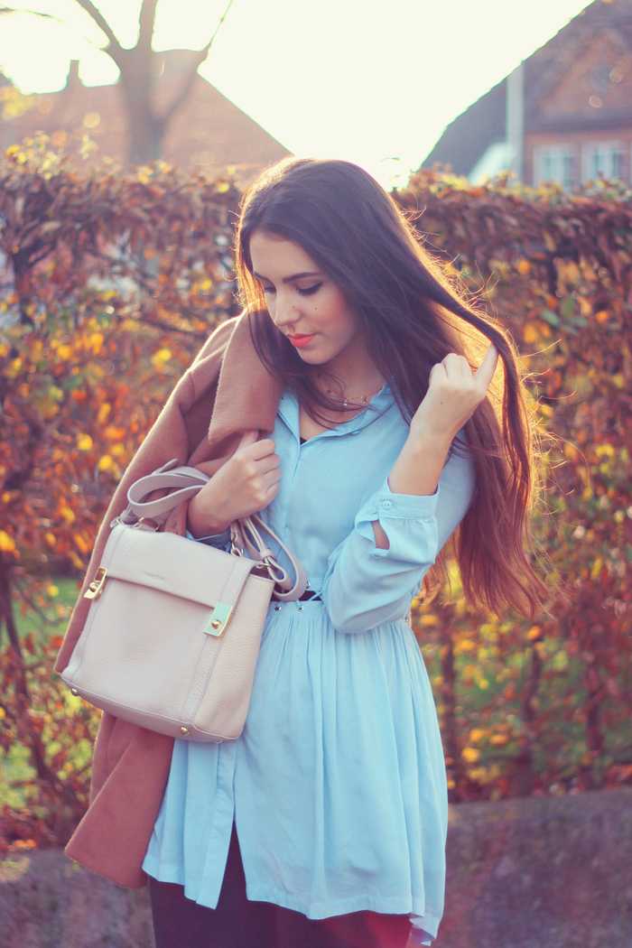 Chicwish Light Blue cutout shirt dress outfit aimerose fashion blog