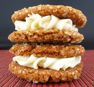Photo of Lemon Gingersnap Sandwich Cookies