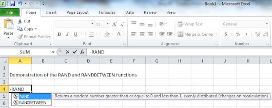 Fictional business - Random Suppliers in Excel