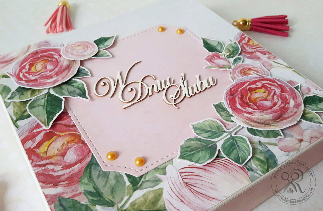 Pudełko z różami na ślub
