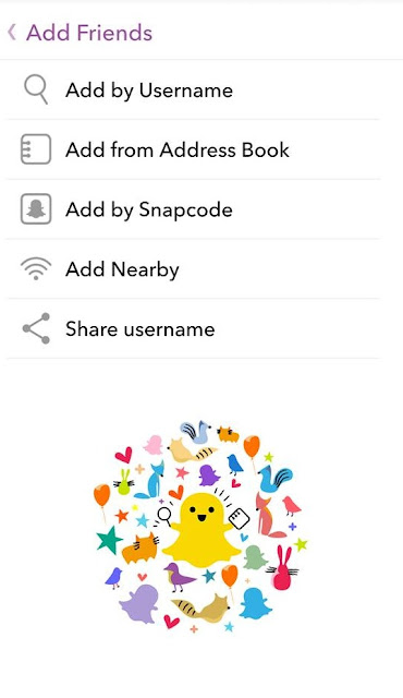 how to add friends on snapchat by username, snapcode or address book