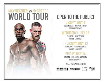 Mayweather and McGregor World Tour coming to your city soon!
