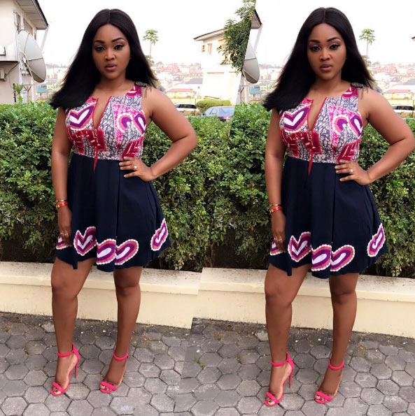 Mercy Aigbe dazzles in gorgeous Ankara dress, tags her designer this time around