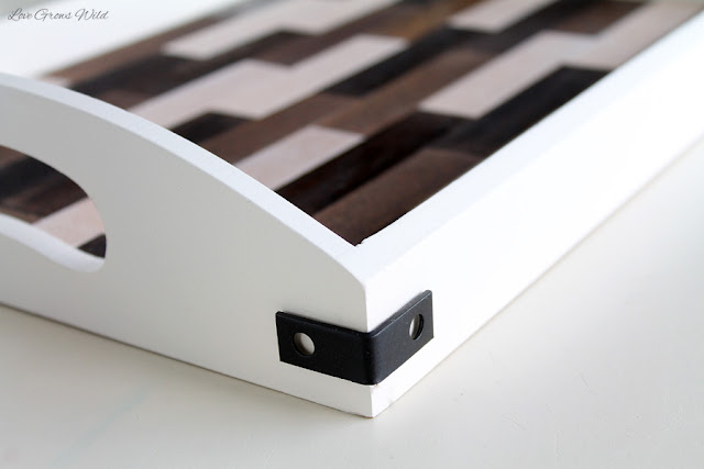 LoveGrowsWild.com   Learn how to take a simple wood tray from plain and boring to fun and fabulous with this easy tutorial!