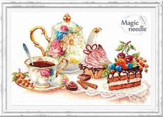 "Cross-stitch Magic Needle 120-001 ""Cakes"""