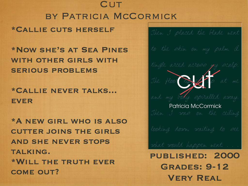 Young Adult Reading Machine Cut By Patricia Mccormick