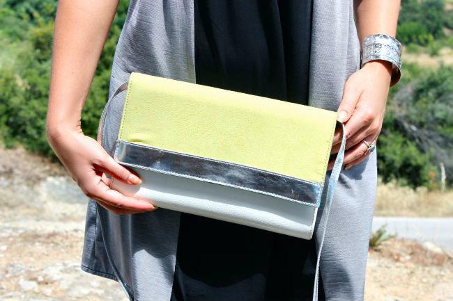 H&M neon purse