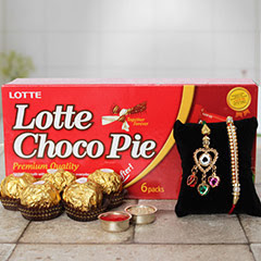Lumba rakhi with Lotte Choco Pie