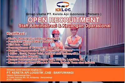 Lowongan Kerja Kereta Api Logistics Group Usaha PT. Kereta Api Indonesia