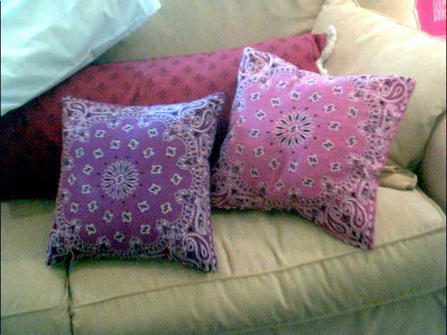 Homemade Bandana Pillows by Tilly's Cottage