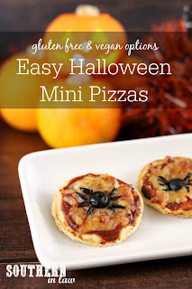 Easy Halloween Mini Pizzas Recipe