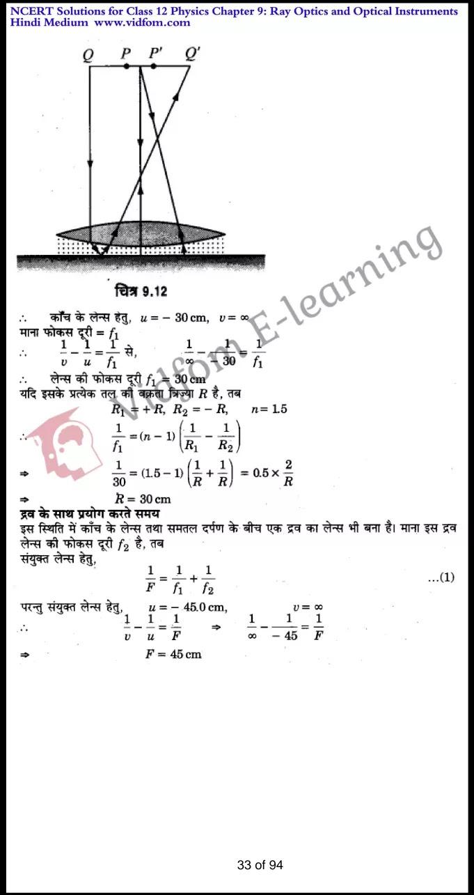 class 12 physics chapter 9 light hindi medium 33