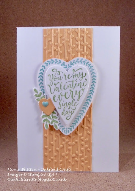 Valentines, Stampin' Up!, Oakfield Crafts