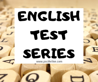 PSC English Test Series 54 -VEO English Previous Questions,