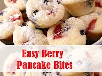 Easy Berry Pancake Bites