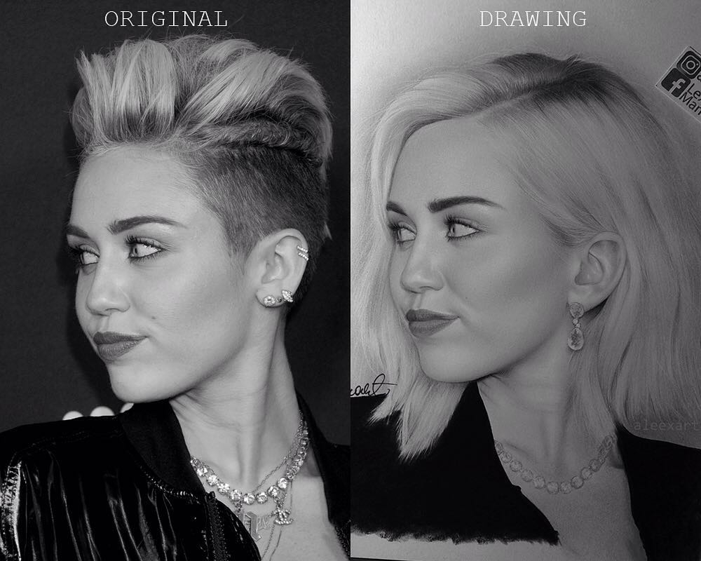 11-Miley-Cyrus-Alex-Manole-Black-and-White-Hyper-Realistic-Portraits-of-Celebrities-www-designstack-co