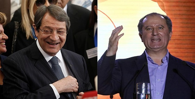 Κύπρος: Ν. Αναστασιάδης και Στ. Μαλάς στον B' γύρο των εκλογών