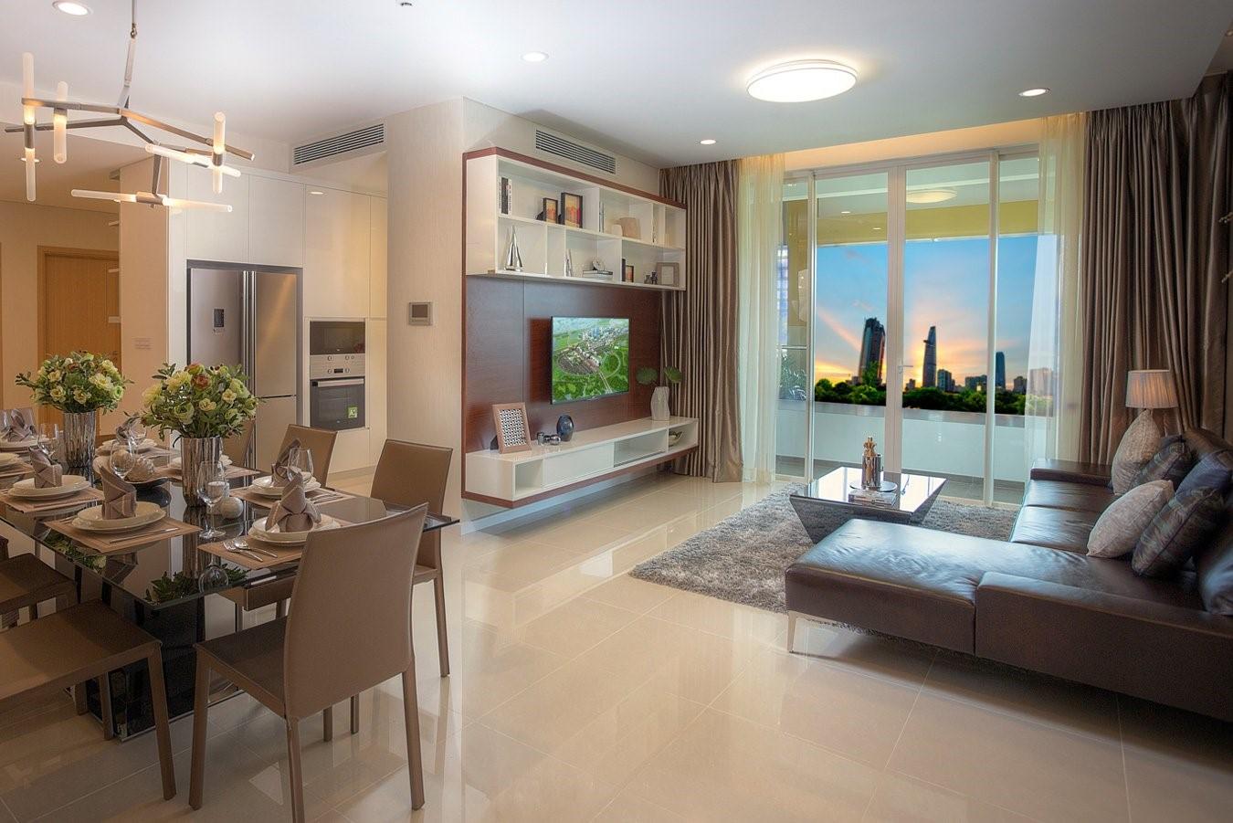 Phối cảnh nội thất căn hộ Bel Air Hà Nội