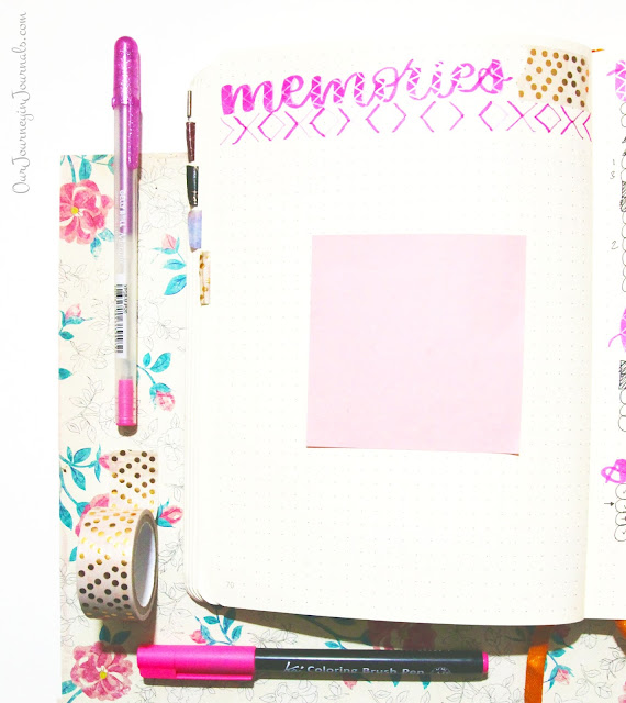blank bullet journal monthly memories spread