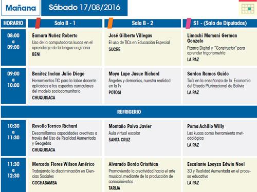 Exposiciones en Educa Innova 2016  - Sucre