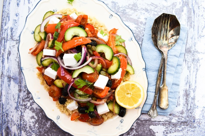 Roasted Vegetable Mediterranean Couscous Salad