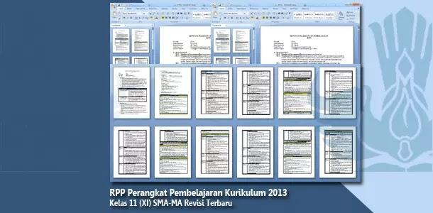 RPP Perangkat Pembelajaran Kelas 11 (XI) SMA-MA Kurikulum 2013 Mata Pelajaran Lengkap Terbaru