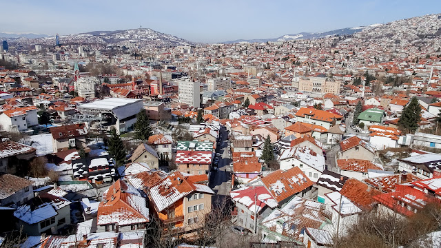 They bombed Sarajevo from here