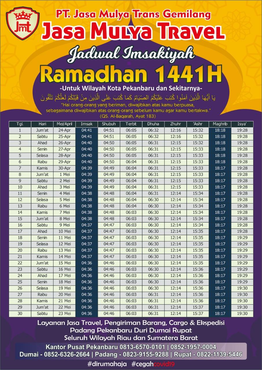 Imsakiyah Ramadhan 1441 H