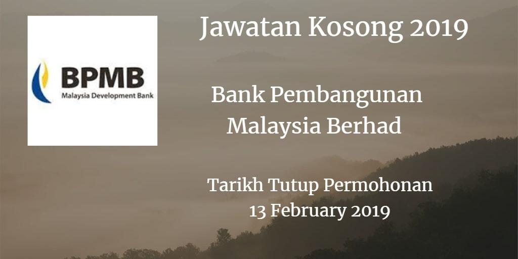 Jawatan Kosong BPMB 13 February 2019