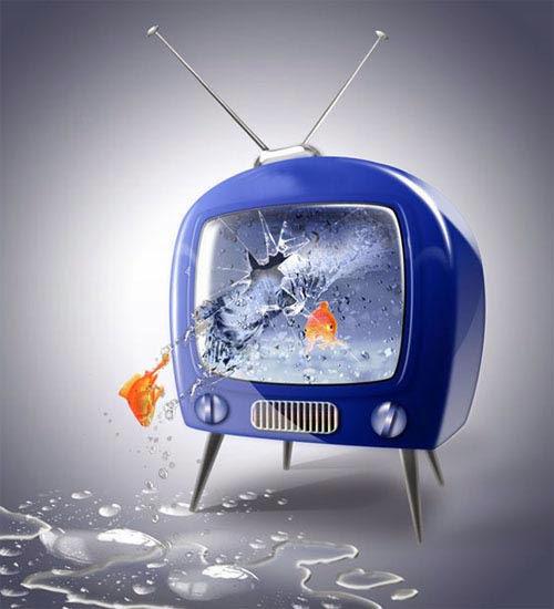 TV Aquarium Digital Drawing