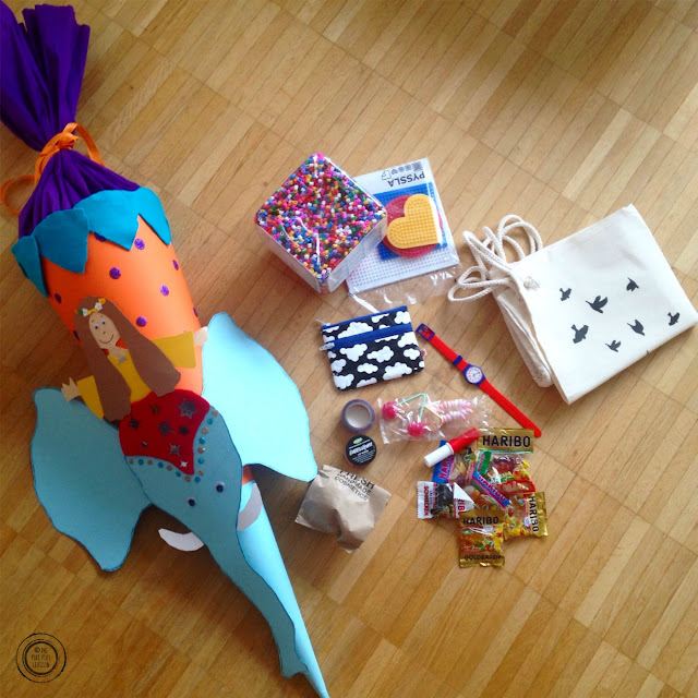 Schultüte: paper cone filled with sweets and gifts for the first day at school