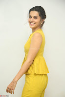 Taapsee Pannu looks mesmerizing in Yellow for her Telugu Movie Anando hma motion poster launch ~  Exclusive 062.JPG