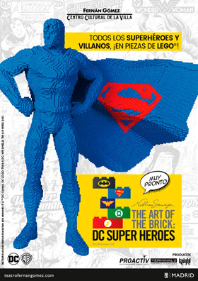'The Art of the Brick: DC Super Heroes', exposición de piezas LEGO en el Teatro Fernán Gómez